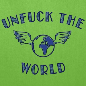 unfuck the world Bags & backpacks - Tote Bag