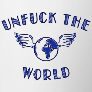 unfuck the world Bottles & Mugs - Contrast Coffee Mug
