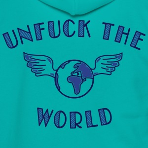 unfuck the world Zip Hoodies & Jackets - Unisex Fleece Zip Hoodie by American Apparel