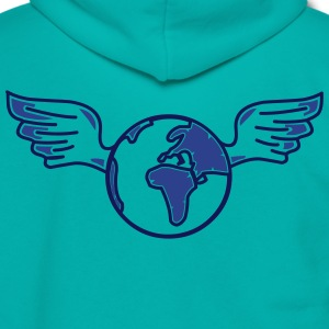 earth with wings Zip Hoodies & Jackets - Unisex Fleece Zip Hoodie by American Apparel
