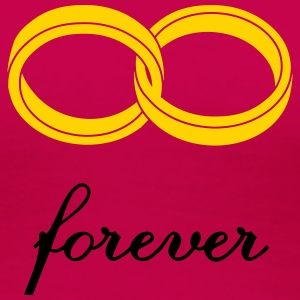 wedding rings forever Women's T-Shirts - Women's Premium T-Shirt