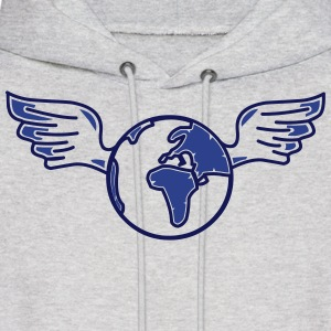 earth with wings Hoodies - Men's Hoodie
