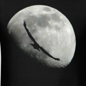 bird moon - Men's T-Shirt