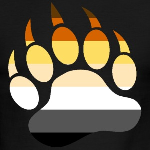 Bear Paw Bear pride flag - Men's Ringer T-Shirt