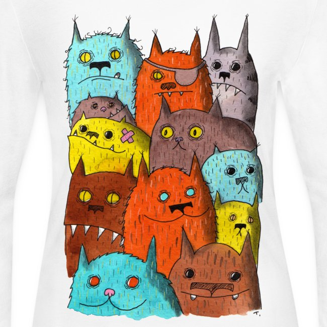 The Cats of Meow Long Sleeve Shirt