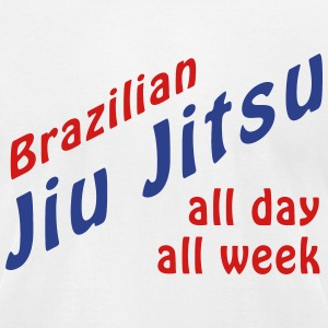 BJJ All Day T-Shirts - Men's T-Shirt by American Apparel