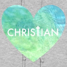 Christian Heart Women's Hooded Sweatshirt