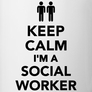 Keep calm I'm Social Worker Bottles & Mugs - Contrast Coffee Mug