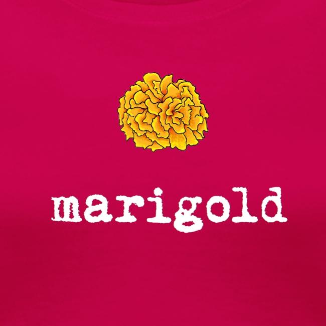 Marigold Women's T (white letters)