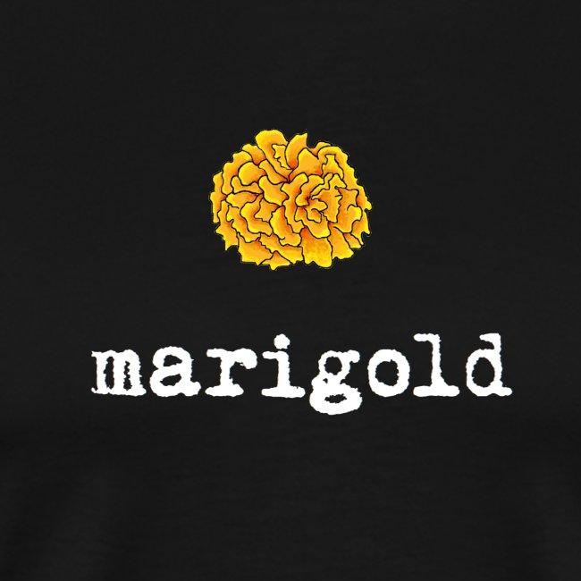 Marigold Men's T (white letters)