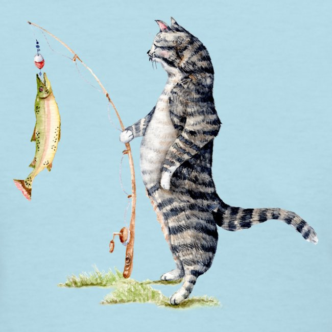 Cat with Fish Classic Tee