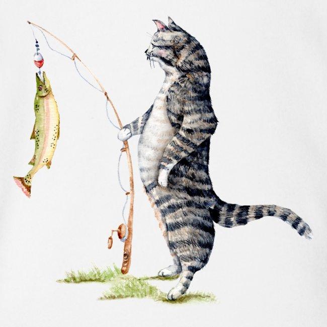 Cat with Fish Onesie