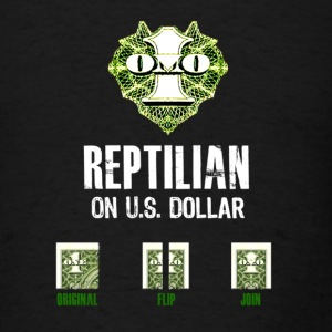 Reptilian on US dollar - Men's T-Shirt