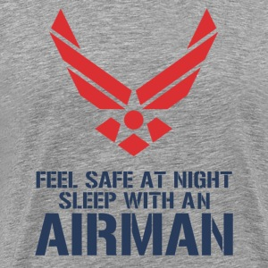 feel safe dating with an airman - Men's Premium T-Shirt