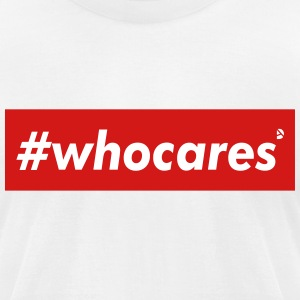 AD whocares T-Shirts - Men's T-Shirt by American Apparel