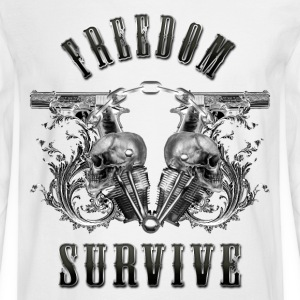 Freedom Survive Long Sleeve Shirts - Men's Long Sleeve T-Shirt