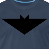 Design ~ Mens T-Shirt // Minimalist Superhero THE BAT