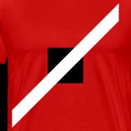 Design ~ Mens T-Shirt // Minimalist Superhero THE SPEEDSTER - Monochrome