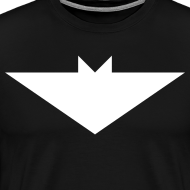 Design ~ Mens T-Shirt // Minimalist Superhero THE BAT - Light