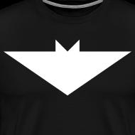 Design ~ Mens T-Shirt // Minimalist Superhero THE BAT - Light