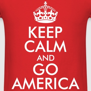 KEEP CALM AND GO AMERICA T-Shirts - Men's T-Shirt