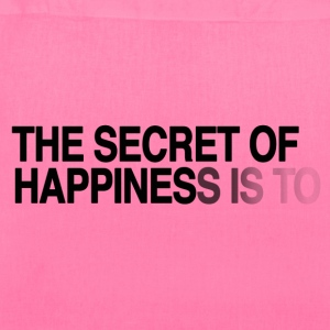 The secret of happiness is ... Bags & backpacks - Tote Bag