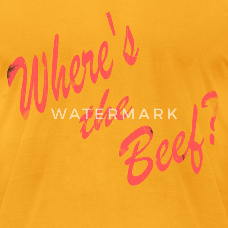 Where's the Beef? - Men's T-Shirt by American Apparel