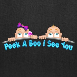 Peek a Boo I See You Baby Boo Twins BG Bags & backpacks - Tote Bag