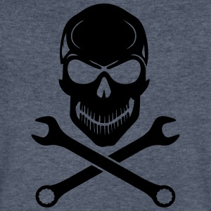 Car Tuning / Car & Bike Wrench - Skull T-Shirts - Men's V-Neck T-Shirt by Canvas