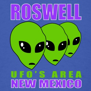 Roswell UFO's AREA - Men's T-Shirt