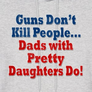 Guns Dads with Daughters Hoodies - Men's Hoodie