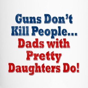 Guns Dads with Daughters Bottles & Mugs - Travel Mug
