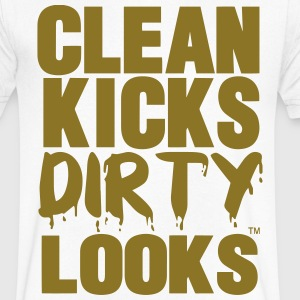 CLEAN KICKS DIRTY LOOKS - Men's V-Neck T-Shirt by Canvas
