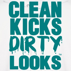 CLEAN KICKS DIRTY LOOKS - Men's Hoodie