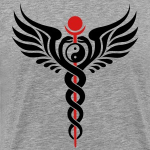 Caduceus, Yin Yang, Winged Serpent, Hermetic T-Shirts - Men's Premium T-Shirt