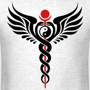 Caduceus, Yin Yang, Winged Serpent, Hermetic T-Shirts - Men's T-Shirt