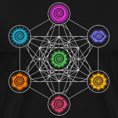 Metatrons Cube, Chakras, Cosmic Energy Centers,  T-Shirts