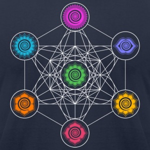 Metatrons Cube, Chakras, Cosmic Energy Centers,  T-Shirts - Men's T-Shirt by American Apparel