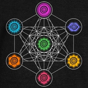 Metatrons Cube, Chakras, Cosmic Energy Centers,  Long Sleeve Shirts - Women's Wideneck Sweatshirt