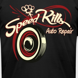 Speed Kills Auto Repair - Men's T-Shirt by American Apparel