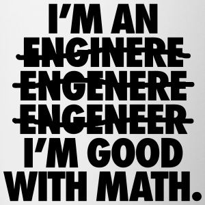 I'm An Engineer I'm Good With Math Bottles & Mugs - Contrast Coffee Mug