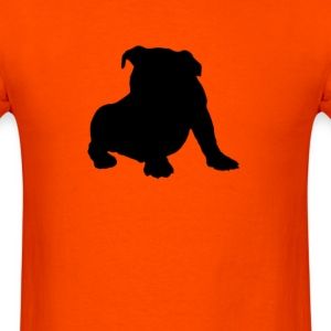 angry tough black bullgog T-Shirts - Men's T-Shirt