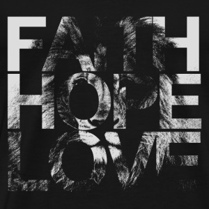 Faith Hope Love Lion - Men's Premium T-Shirt