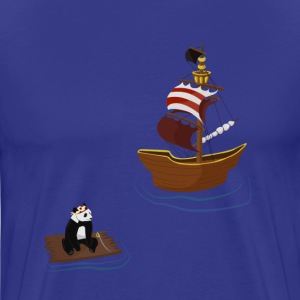 Sky blue Pirate Panda T-Shirts - Men's Premium T-Shirt