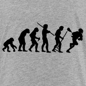 evolution_of_man_lacrosse Kids' Shirts - Kids' Premium T-Shirt