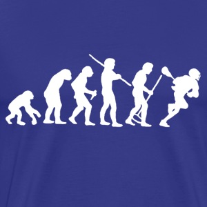 evolution_of_man_lacrosse T-Shirts - Men's Premium T-Shirt