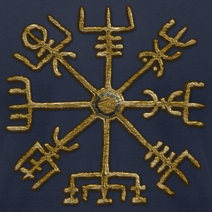 Vegvisir, Icelandic magical stave - navigator T-Shirts - Men's T-Shirt by American Apparel
