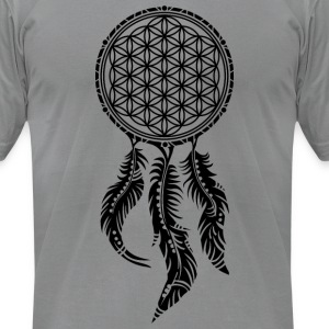 Flower of Life, Dream Catcher, Spiritual, Indians T-Shirts - Men's T-Shirt by American Apparel