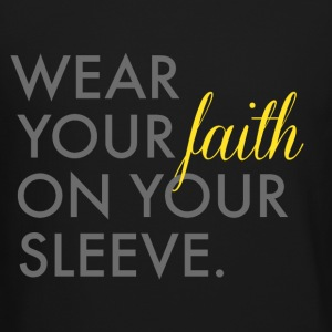 Wear Your Faith on Your Sleeve Men's Crewneck Swea - Crewneck Sweatshirt