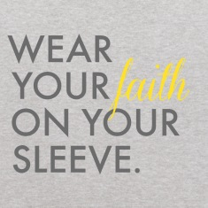 Wear Your Faith on Your Sleeve Kids' Hooded Sweats
